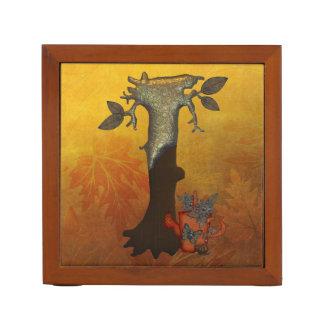 Autumn Tree Monogram I Desk Organiser