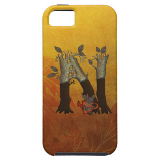 Autumn Tree Monogram N Case For The iPhone 5