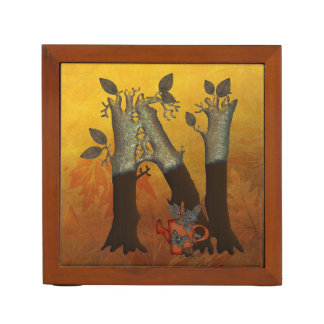 Autumn Tree Monogram N Pencil/Pen Holder