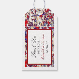 Autumn Watercolor Leaf Wedding Gift Tags