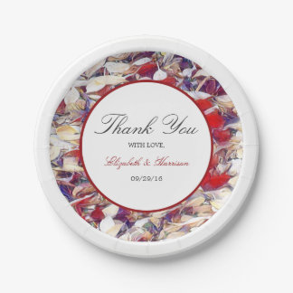 Autumn Watercolor Leaf Wedding Paper Plate