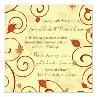 Autumn Wedding Invitation Cards