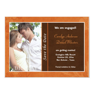 Autumn Wedding Photo Save the Date Card