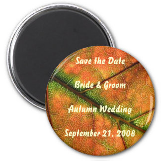 Autumn Wedding Save the Date Magnet