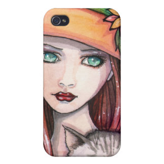Autumn Witch and Cat iPhone Case iPhone 4/4S Cases