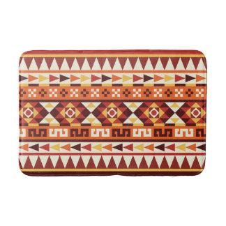 Autumnal Colors Aztec Pattern Bath Mat