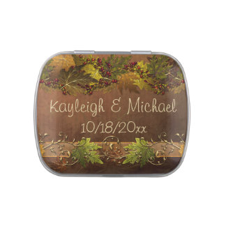 Autumn's Song Wedding Jelly Belly Candy Tins