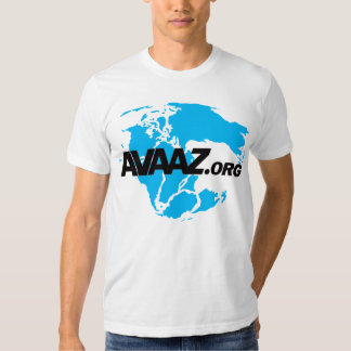 Avaaz.org Black Logo and Pangea Front Tshirt