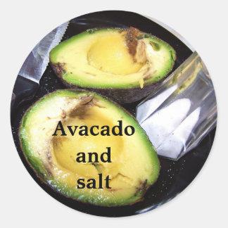 Avacadoand salt sticker
