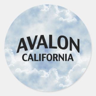 Avalon California Classic Round Sticker