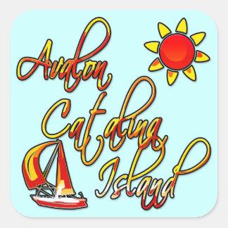 Avalon Catalina Island Square Sticker