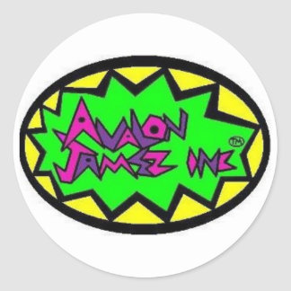 Avalon Jamez Inc Icon Classic Round Sticker