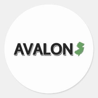 Avalon, New Jersey Classic Round Sticker