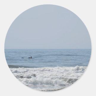 Avalon NJ beach Classic Round Sticker