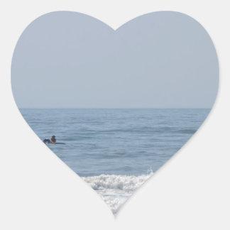 Avalon NJ beach Heart Sticker