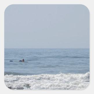 Avalon NJ beach Square Sticker