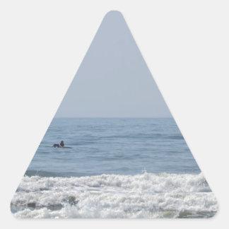 Avalon NJ beach Triangle Sticker