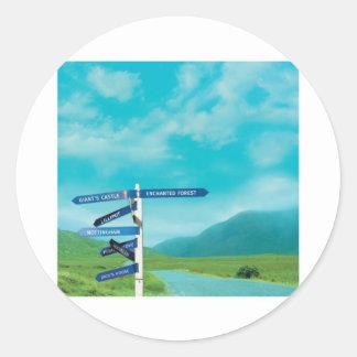Avalon Signpost Classic Round Sticker