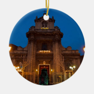 Ave Maria Church in Catania Christmas Ornament