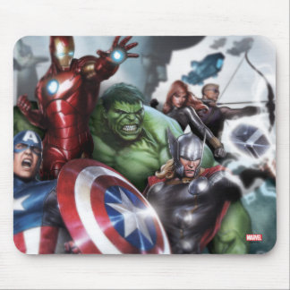 Avengers Classics | Poised For Battle Drawing Mouse Pad