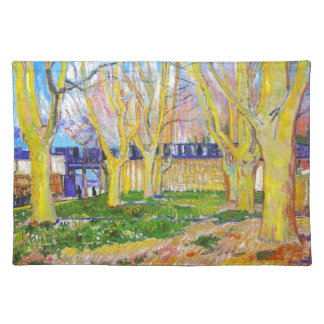 Avenue of Plane Trees near Arles Station by Vincen Placemat