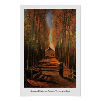 Avenue of Poplars in Autumn, Vincent van Gogh.  Im Poster