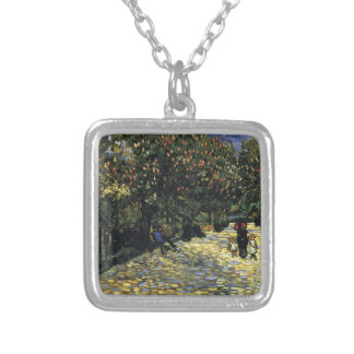 Avenue with Chestnut Trees at Arles - Van Gogh Silver Plated Necklace