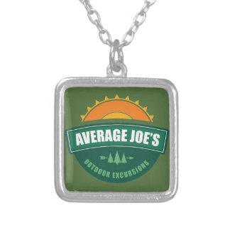Average Joe's Outdoor Excursions Square Pendant Necklace