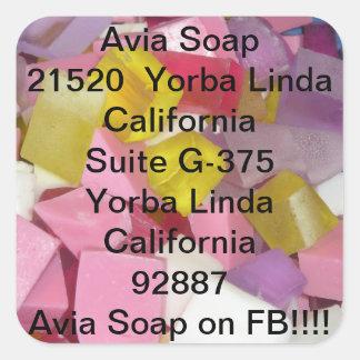 Avia soap square sticker
