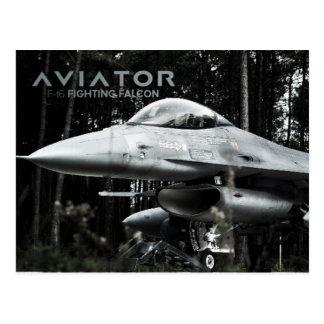 Aviator F-16 Fighting Falcon Postcard