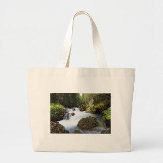 Avisio stream, Canazei Large Tote Bag