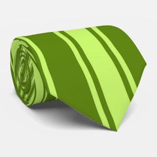 Avocado Color Stripe Funky Pattern Tie