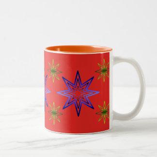 Awakening Star On Red Coffee Mugs