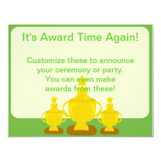 Award Ceremony or Party 11 Cm X 14 Cm Invitation Card