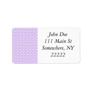 Awareness Butterflies on Lilac Purple Address Label