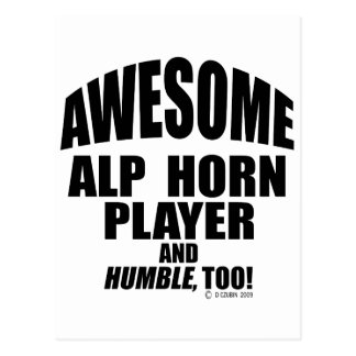 Awesome Alp Horn Player Postcard