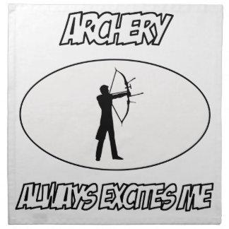 awesome archery designs napkin