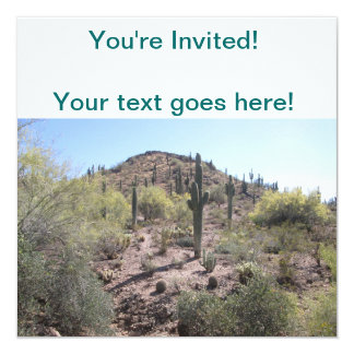 Awesome Cactus Garden 13 Cm X 13 Cm Square Invitation Card
