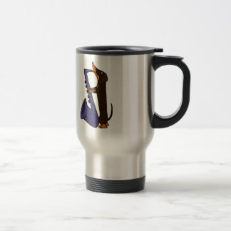 Awesome Dachshund Dog Playing Saxophone Travel Mug