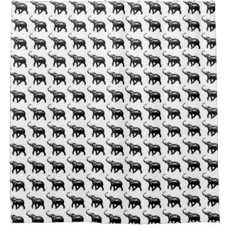 awesome elephants . pattern shower curtain