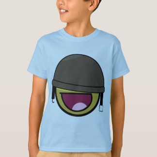 Awesome Face Smiley Soldier With Helmet T-shirts