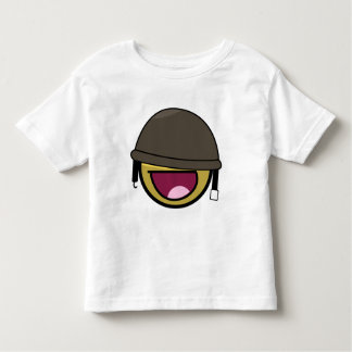Awesome Face Smiley Soldier With Helmet Toddler T-Shirt