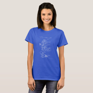 Awesome Film Camera Blueprint Shirt for Filmmakers