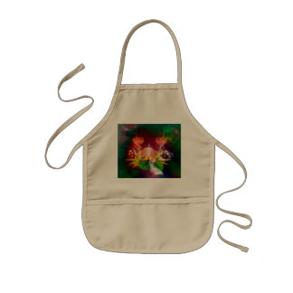 Awesome glowing flowers kids apron