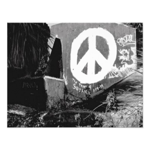 awesome graffiti peace personalized announcements