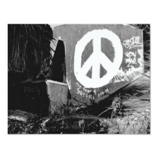 awesome graffiti peace 11 cm x 14 cm invitation card
