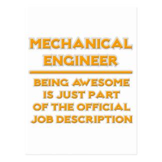 Awesome mechanical engineer job description postcard