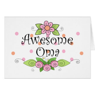 Awesome Oma T-Shirt Card