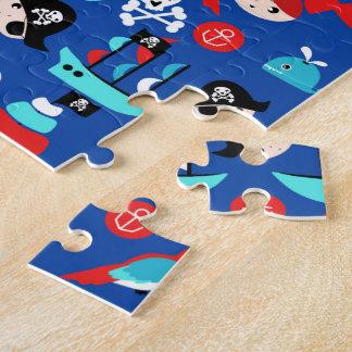 Awesome pirate pattern jigsaw puzzle