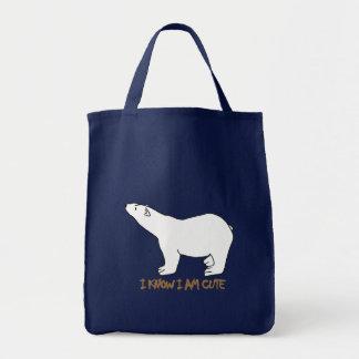 awesome polar bear designs tote bag